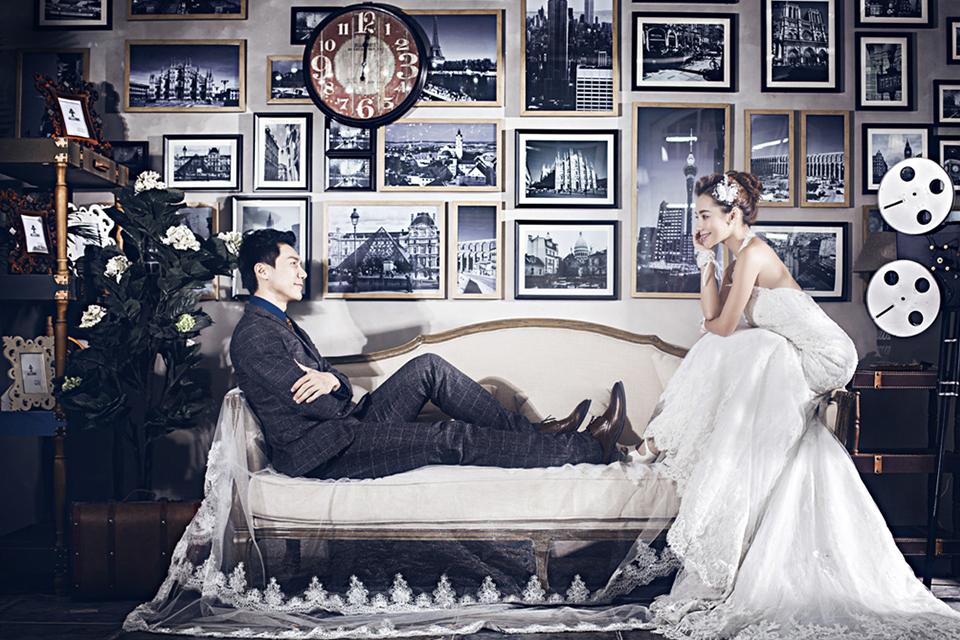 巴黎婚纱3999元婚纱照