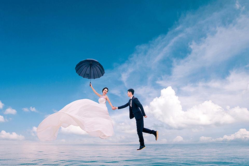 蔷薇映画7988元旅拍婚纱照