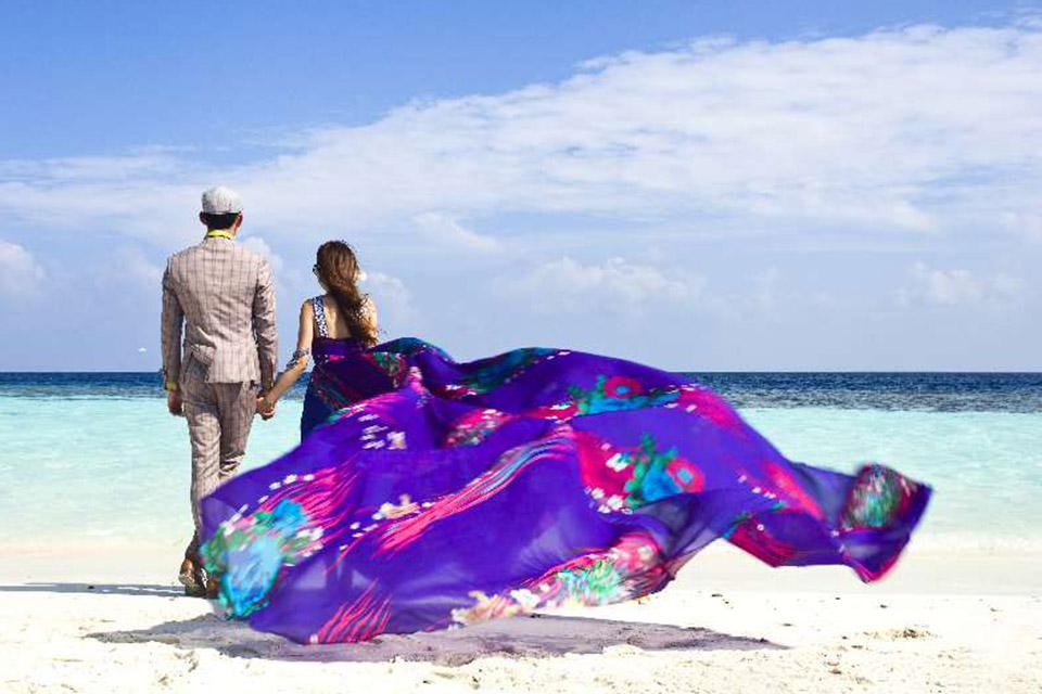 巴黎春天16800元马尔代夫旅拍婚纱套餐