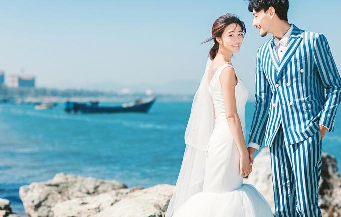 左拉印象2988元鲅鱼圈海景婚纱摄影