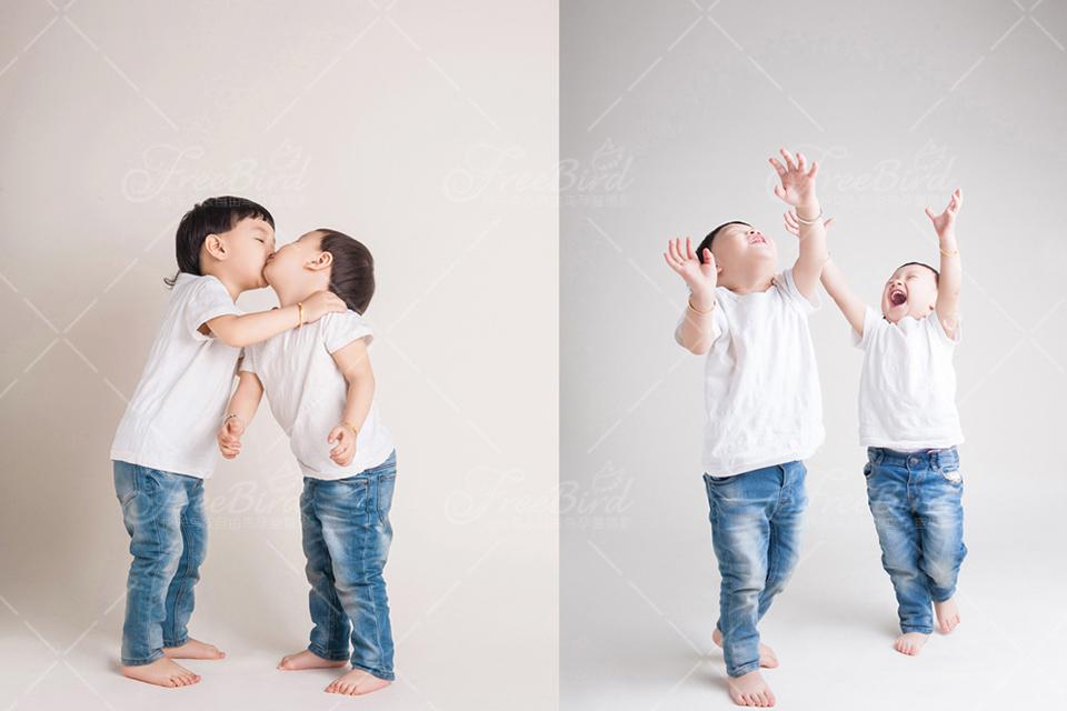 自由鸟2098元双宝亲子摄影