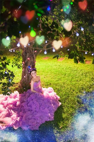 成都个人写真-诗文染色天使面的晒片