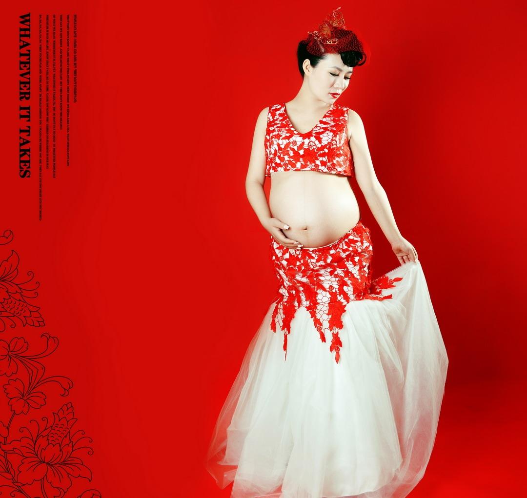 成都孕妇摄影-蝴蝶恋花的晒片