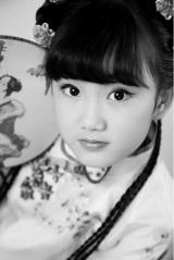 小精灵专业儿童摄影-儿童摄影-Energy-古装黑白照也可以这么呆萌-3