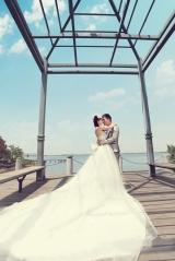 汉阳王家湾mago时尚摄影客户大红色的婚纱摄影样片 汉阳王家湾mago时尚摄影婚纱摄影样片 哪拍晒片网